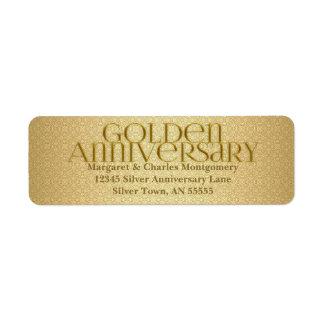 50th Golden Anniversary Avery Label