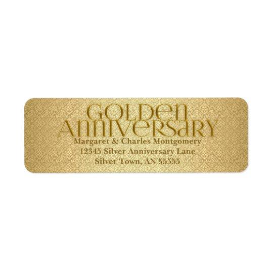 50th Golden Anniversary Avery Label Return Address Label