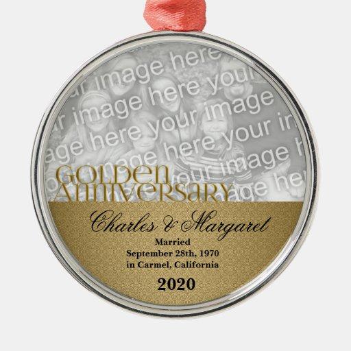 50th Golden Anniversary Photo Ornament