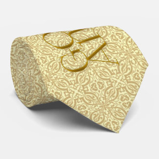 50th Golden Anniversary with Soft Golden Damask Tie