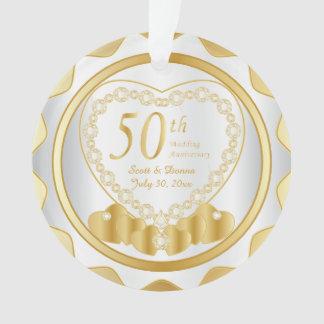 50th Golden Wedding Anniversary 2 Ornament