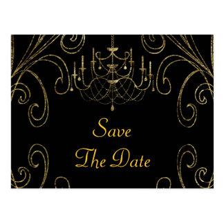 50th Golden Wedding Anniversary Chandelier Postcard