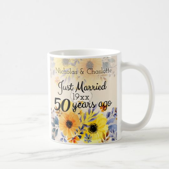 50th Golden Wedding Anniversary Coffee Mug