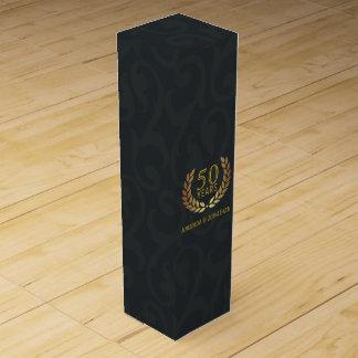 50th Golden Wedding Anniversary Customizable Wine Box