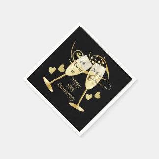 50th Golden Wedding Anniversary | DIY Text Disposable Napkin