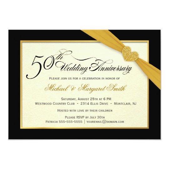 Th golden wedding anniversary invitations zazzle