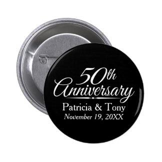 50th Golden Wedding Anniversary Personalized 2 Inch Round Button