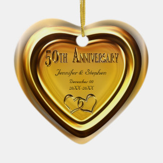 50th Golden Wedding Anniversary Photo Ornament