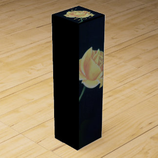 50th Golden Wedding Anniversary Rose Wine Box