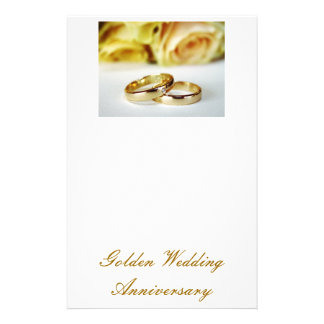 50TH Golden Wedding Anniversary Custom Stationery