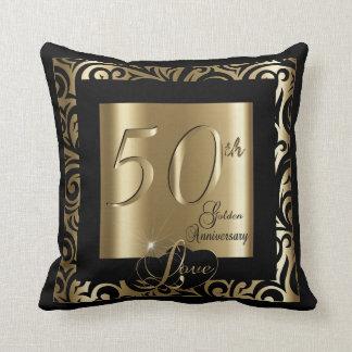 50th Golden Wedding Anniversary Throw Pillow
