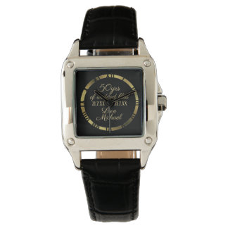 50th Golden Wedding Anniversary Wife Watch