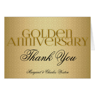 50th Golden Wedding Annivsersary Custom Card