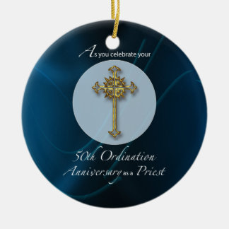 50th Jubilee Ordination Anniversary of Priest Ceramic Ornament