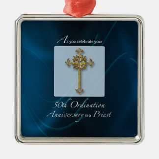 50th Jubilee Ordination Anniversary of Priest Metal Ornament