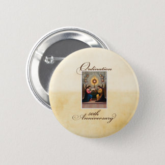 50th Ordination Anniversary Angels at Altar 2 Inch Round Button
