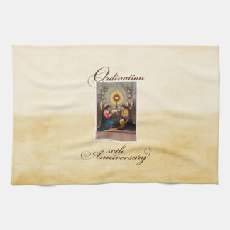 50th Ordination Anniversary Angels at Altar Kitchen Towel