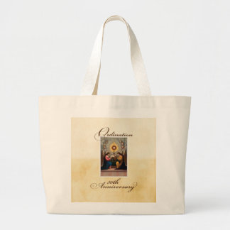 50th Ordination Anniversary Angels at Altar Large Tote Bag
