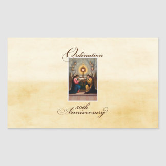 50th Ordination Anniversary Angels at Altar Sticker