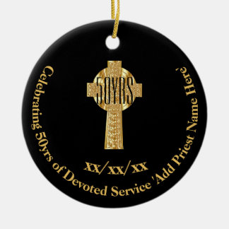 50th Ordination Anniversary Priest Golden Jubilee Ceramic Ornament