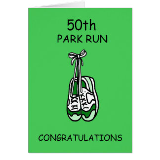 50th Park Run Congratulations Card