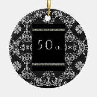 50th round ceramic ornament