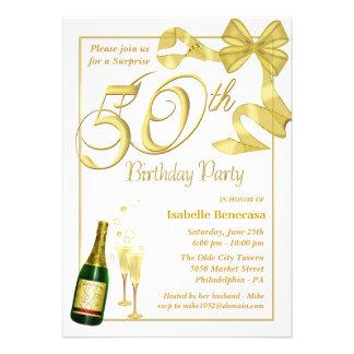 50th Surprise Birthday Party - Custom Invitations