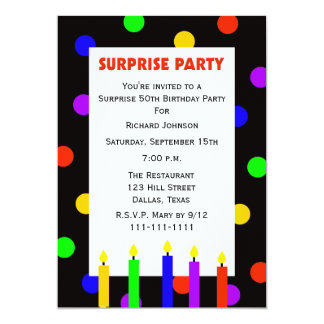 50th Surprise Birthday Party invitation Dots