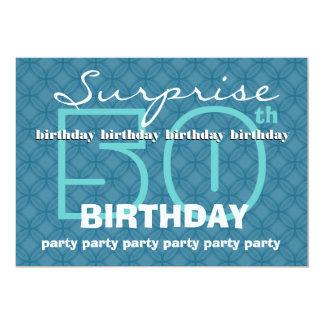 50th SURPRISE Birthday Powder Blue Circles W486 Card