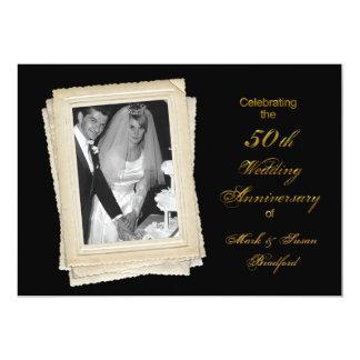 50th Wed. Anniversary Invite - Vintage/photo