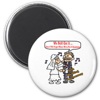 50th wedding anniversary 6t 2 inch round magnet