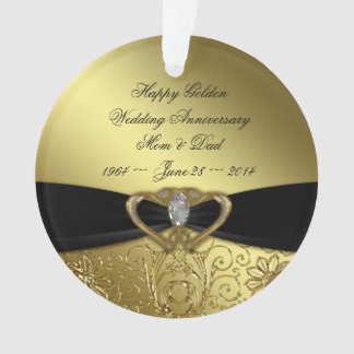 50th Wedding Anniversary Acrylic Ornament