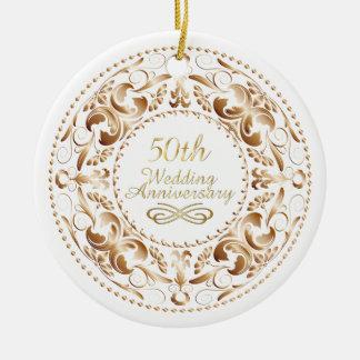 50th Wedding Anniversary Copper 9 - Ornament