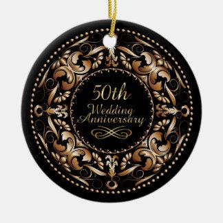 50th Wedding Anniversary Copper 9B - Ornament