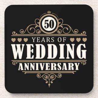 50th Wedding Anniversary Drink Coasters