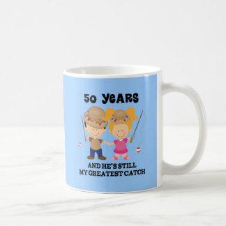 50th Wedding Anniversary Gift For Her Classic White Coffee Mug