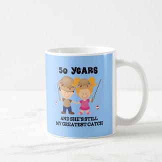 50th Wedding Anniversary Gift For Him Classic White Coffee Mug