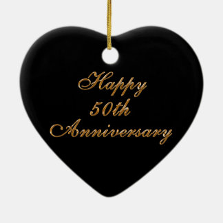 50th Wedding Anniversary Gifts, Personalize it Ceramic Heart Ornament