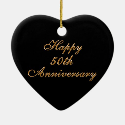 50th Wedding Anniversary Gifts, Personalize it Ornament