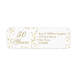 50th Wedding Anniversary Gold Dust Confetti