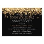 50th Wedding Anniversary Gold Lights Card