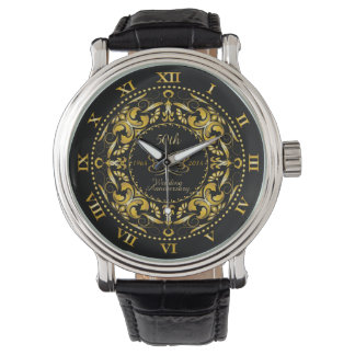 50th Wedding Anniversary Gold Ornate - Watch