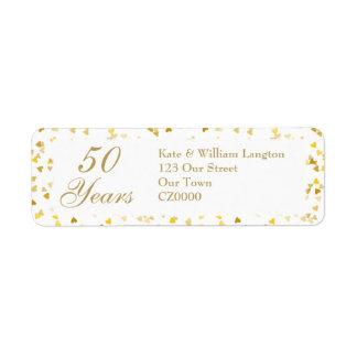 50th Wedding Anniversary Golden Hearts Confetti