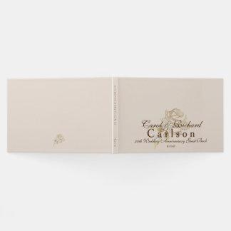 50th Wedding Anniversary Guest Book-Golden Rose Guest Book