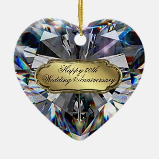 50th Wedding Anniversary Heart Ornament