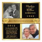 50th Wedding Anniversary Hearts Photo Invitations