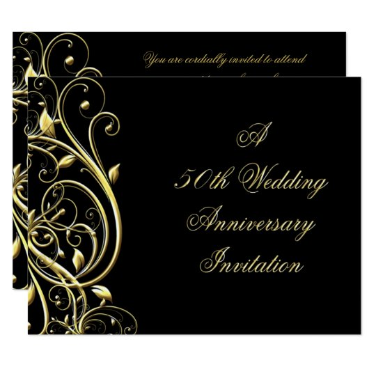 Personalised Wedding Anniversary Gifts Nz : 50th Wedding Anniversary Invitation Zazzle