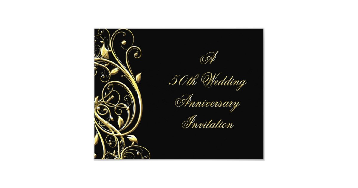 Cheap 50th Wedding Anniversary Invitations: 50th Wedding Anniversary Invitation
