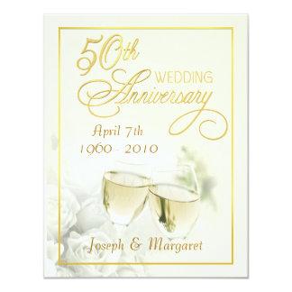 50th Wedding Anniversary Invitations - Ivory Small