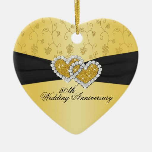 50th Wedding Anniversary Keepsake Ornament